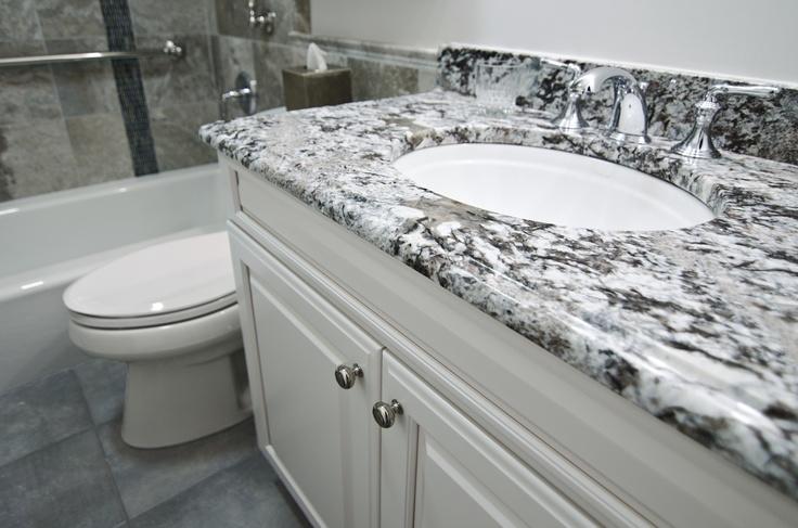 Azul aran granite tops the vanity beautiful bathrooms for Bathroom vanities alexandria