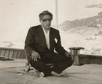 *ARISTOTLE ONASSIS ~ on his yacht, 1959 (London Express News):  Onassis is hated by the USA + not too wrong if you think that a good part of his fortune are derived from having sold during the Second World War ships to the Allies at a price so high as to become in 1954 the subject of investigation for fraud against the United States by the FBI + to be sentenced to a compensation of $7 million.