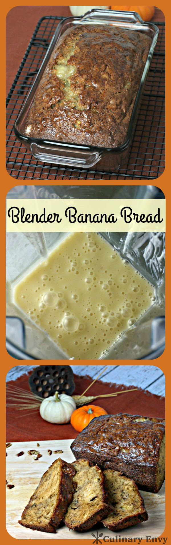 Not just another banana bread recipe. Rich, soft, extra moist with tons of banana flavor that make this Blender Banana Bread the most decadent ever.