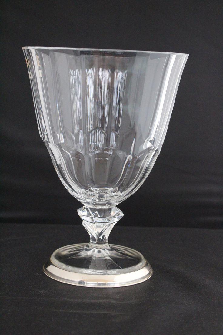 Vaso in cristallo (Crystal d'arques)e argento 925 di patrizianave su Etsy