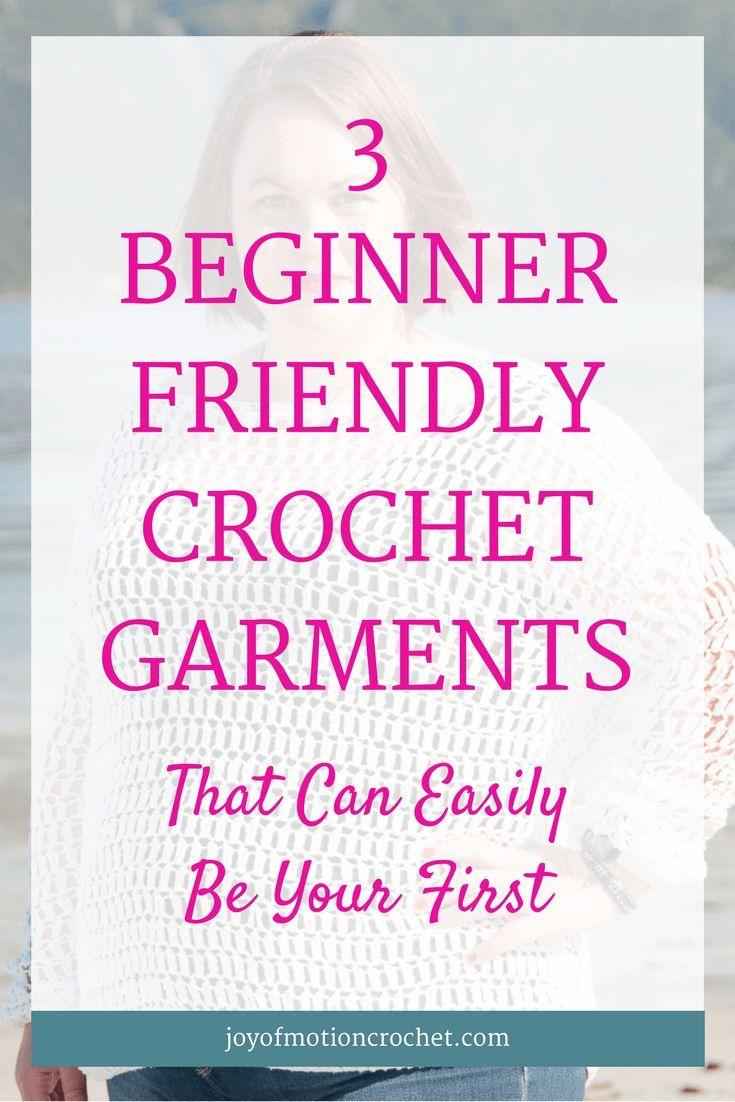 3 Beginner Friendly Crochet Garments That Can Easily Be Your First | crochet garment | beginner crochet | beginner friendly crochet | beginner garments | beginner crochet garments | easy crochet garments | easy crochet sweaters | beginner crochet sweater | easy crochet top | beginner crochet top | beginner crochet clothes | beginner crochet tutorial | crochet for beginners | crochet for anyone via @http://pinterest.com/joyofmotion/