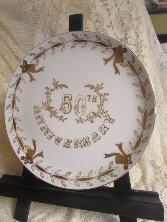 VINTAGE Assiette 50 th Anniversary No SL 3696 Lefton par TICTAC1212