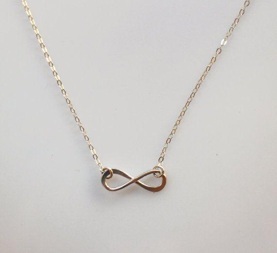 Sterling Silver Infinity Necklace Infinity by NikolaJewelry