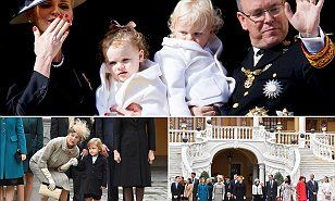 Princess Charlene of Monaco has melted hearts showing off her adorable twins and blowing a kiss to the crowds on the National Day celebrations.