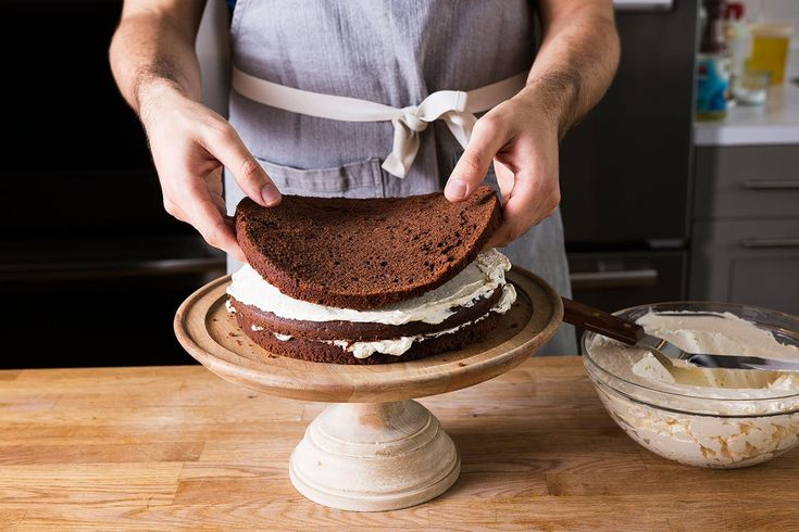 Layers of chocolate cake and coffee buttercream make this devil's food cake from Ina Garten heavenly.