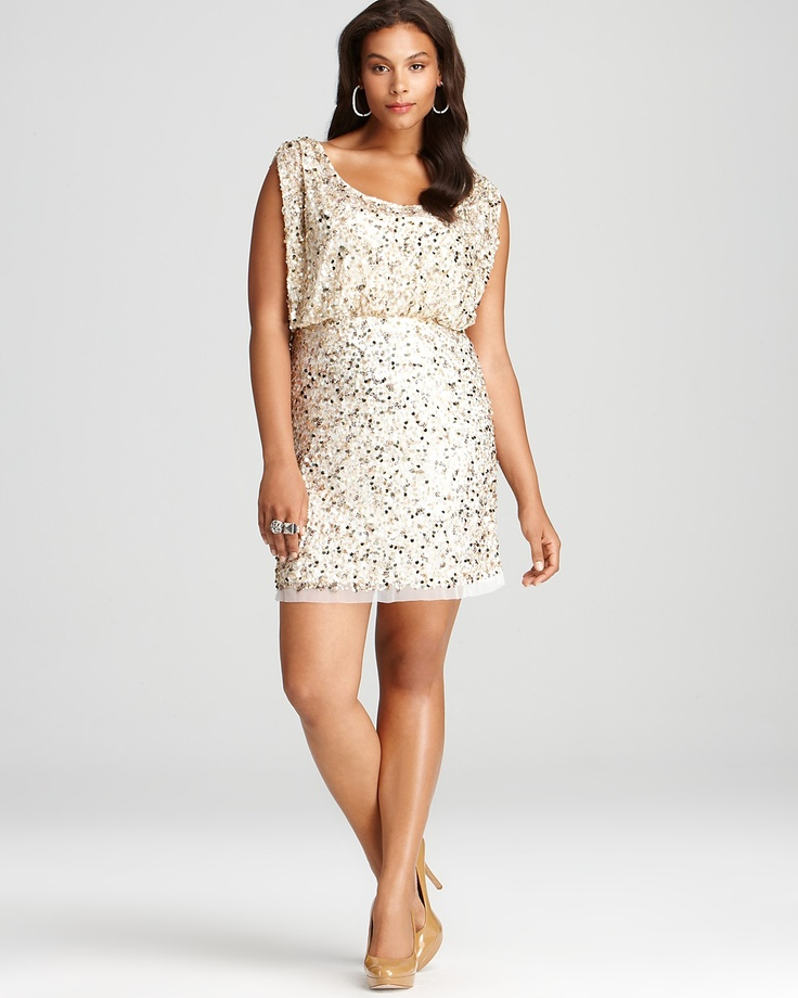 I might be in love. #Plus #Size Sequin Dress