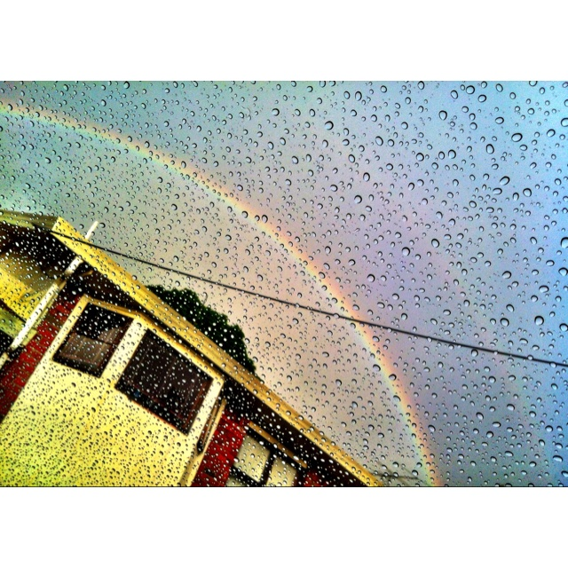 YES this is a double rainbow and NO I don't know what this means