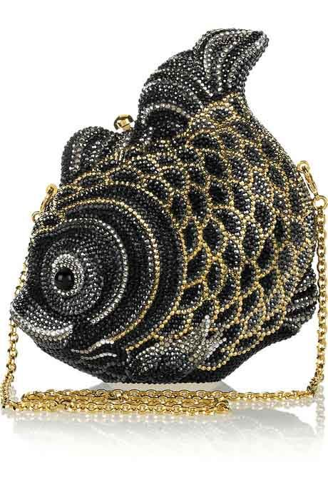 Judith Leiber Fish Fine Crystal Embellished Clutch
