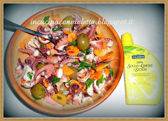 In Cucina Con Violetta: Insalata di Polipo con 100 % Succo di Limone ...