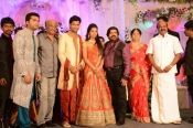 actor simbu(STR) sister marriage gallery.south indian stars attend the reception..superstar attend too...