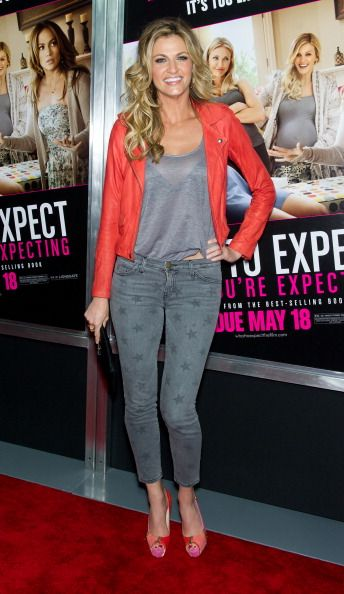 Erin Andrews attends the 'What To Expect When You're Expecting' premiere at AMC Loews Lincoln Square on May 8 2012 in New York City