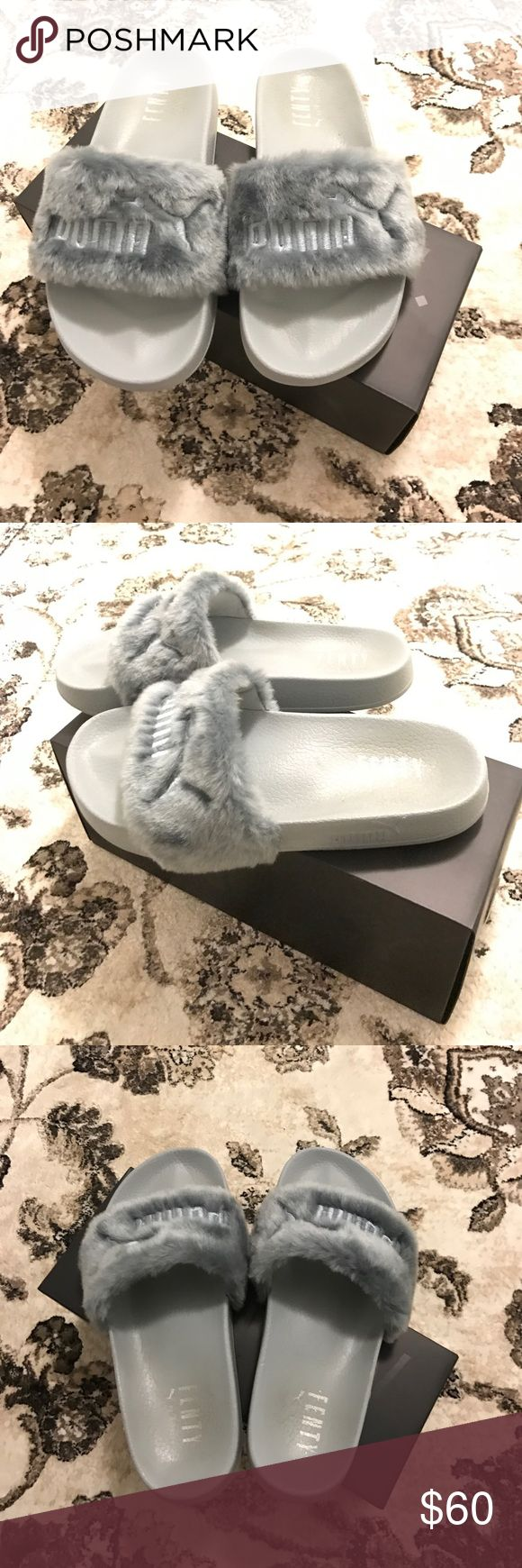 Puma fenty by Rihanna gray sandals size 7.5 Preowned Puma fenty by Rihanna gray sandals size 7.5 dustbag and box included. Puma Shoes Sandals