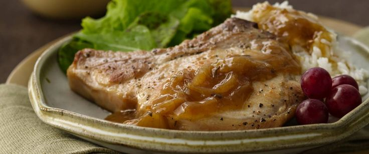 Jump-start a deliciously easy dinner of Pork Loins with a can of Progresso® soup!