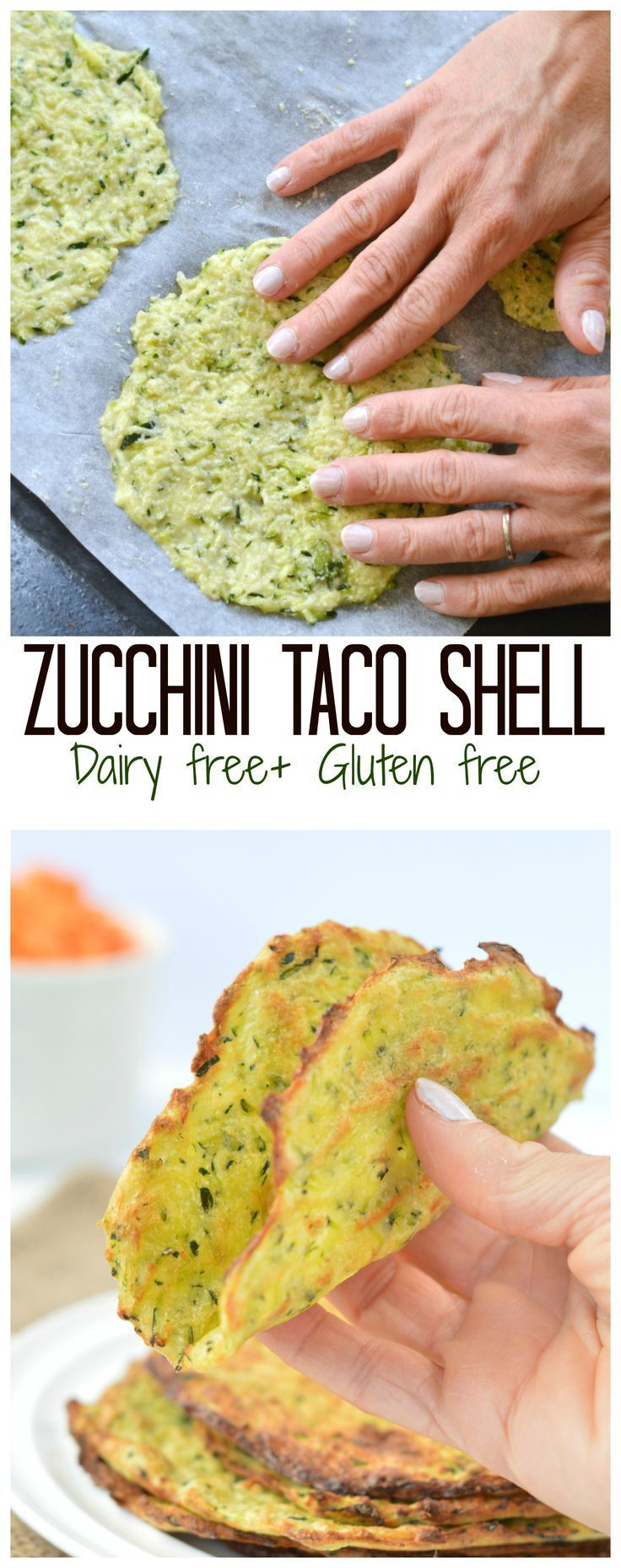 Gluten Free Zucchini Taco Shell are a super healthy soft taco idea for your next party! Thin, soft and won't crack! Easy to use as a tortilla or soft taco shell. No cheese in this recipe but healthy coconut flour and more! Click and get your recipe for your next game night! #grainfree #glutenfree #dairyfree