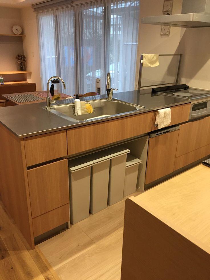 お気に入りポイント ゴミ箱スペース リビング キッチン キッチン間取り キッチンデザイン