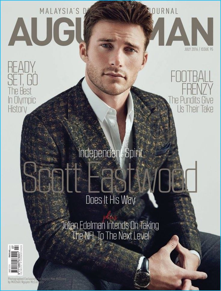 Scott Eastwood covers the July 2016 issue of August Man Malaysia.