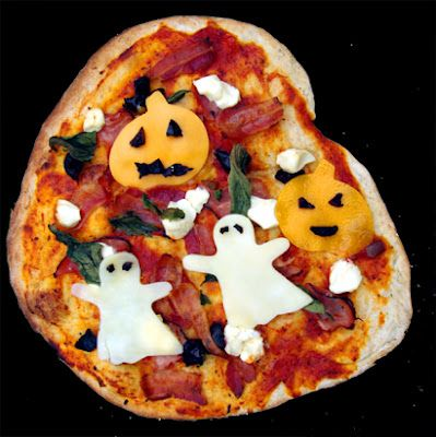 Halloween Pizza is a Ghostly Dinner