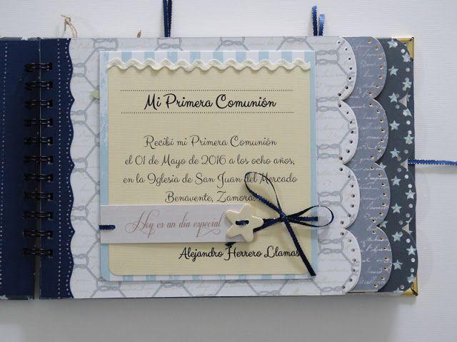 Heli Papeles ♥: Libro de Firmas para la Primera Comunión de un Niño