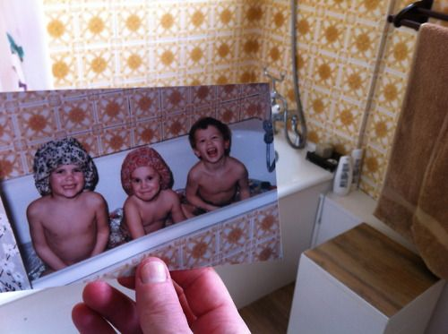 Dear Photograph,  Over 25 years later, the yellow bathroom tiles and all the fun my sisters and I had still lives on!  Ben
