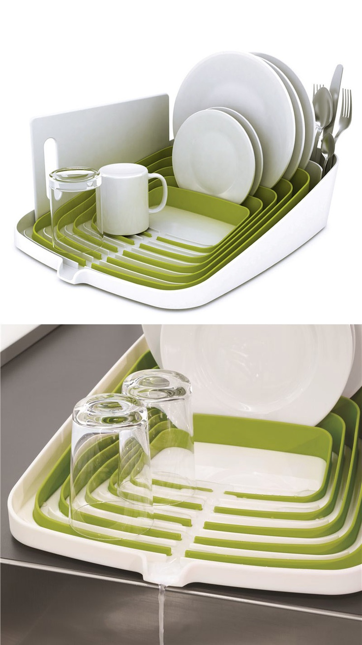 Dish rack that drains excess water - need one of these