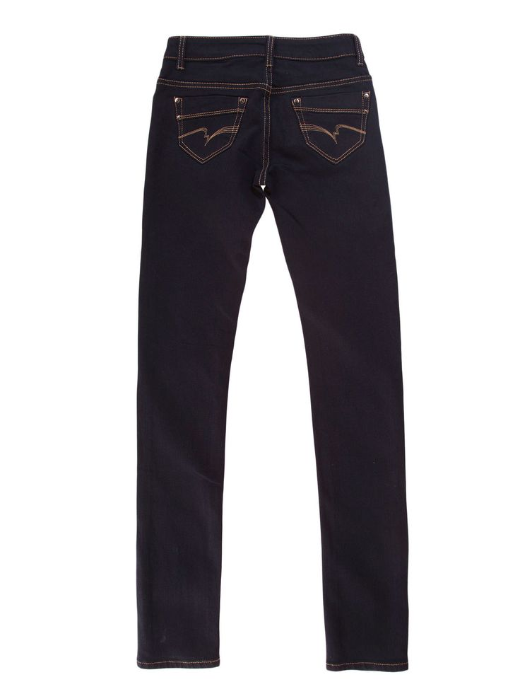 Spodnie damskie rurki gładkie długie - XSJ0053 - odzież damska - txm24.pl granatowe
