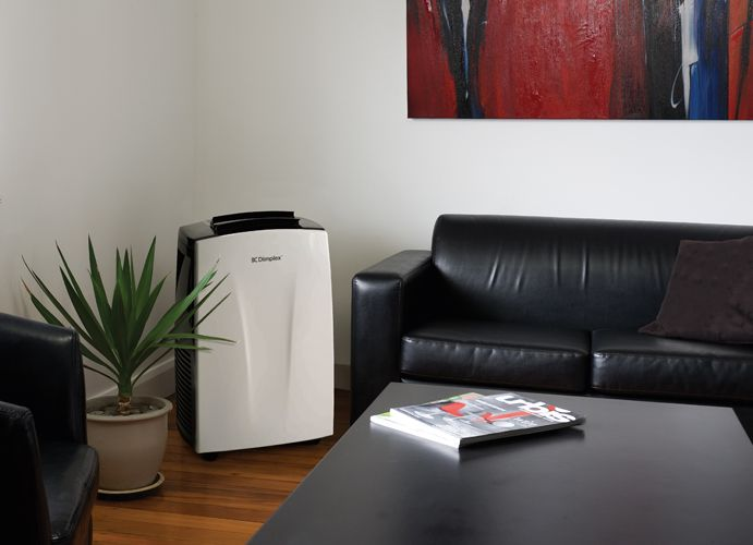 The DC17 Dimplex Portable Air Conditioning unit guarantees cooling in temperatures outside up to a scorching 43 ºC in rooms up to 32m². Plus, its self-evaporative system eliminates the need for a drip tray or hose!
