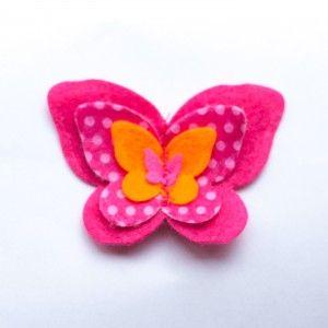 Spicy vlinder - Hip & Haar #vlinder #haarspeldjes #alligator #meisjes #haaraccessoires #handgemaakt #hip