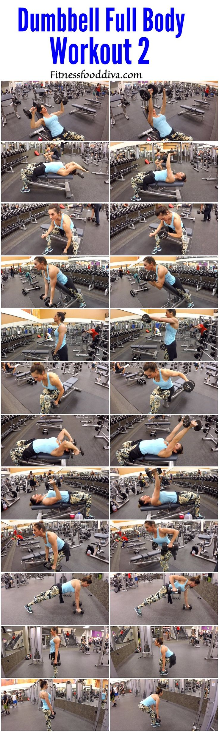 Full body workout for at home or the gym!