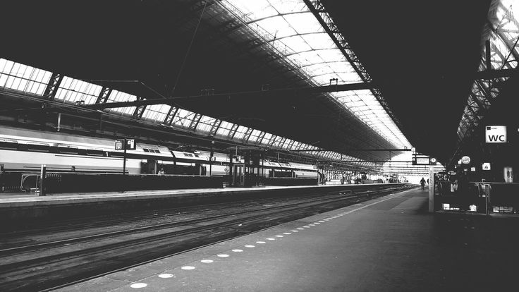 Central Station 2 Black and White