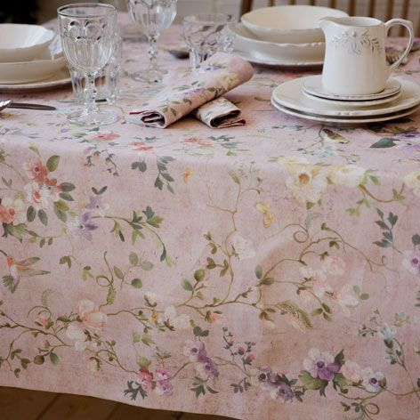 Digital floral print tablecloth and napkin mesas for Zara home manteles mesa