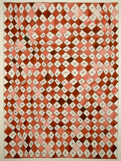 Beautiful color balance developed on this pattern by Beth Hoeckel. #designinspiration #patterns #originalpatterns