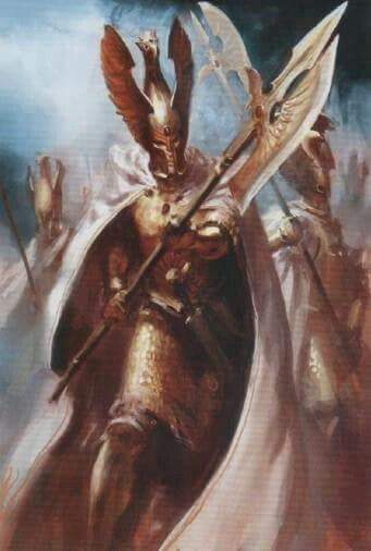 The Palatines are the white knights of Lady Rinessa. Aside from having a warrior code and the duty to protect the weak, the Palatines are known for drawing a sigil of Lady Rinessa's crest on the air, which functions as their shield, and their winged poleaxes.
