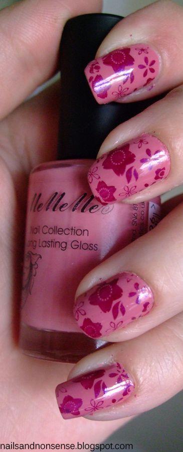 BundlemonsterNails Flor Inspiration, Nailsflor Inspiration, Nails Art, Floral Nails, Nails Anytime, Nails Polish, Polish Obsession, Stamps Nailart, Gorgeous Nails
