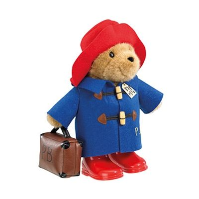Classic Paddington Bear with Boots and Suitcase! 34.95 available to buy at Say It Baby https://www.sayitbaby.co.uk/Large-Classic-Paddington-Bear-with-Suitcase-p/pdb-ted01.htm