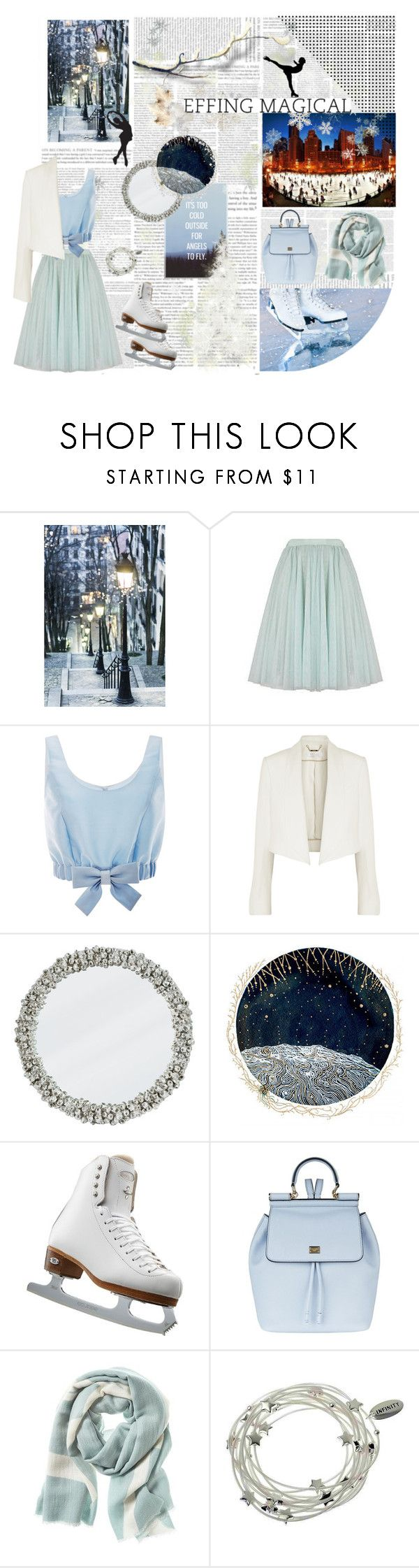 """Ice Skating Style"" by annelaurousen ❤ liked on Polyvore featuring WALL, Ted Baker, Honor, Chloé, Riedell, Dolce&Gabbana, Banana Republic, Majique and iceskatingstyle"