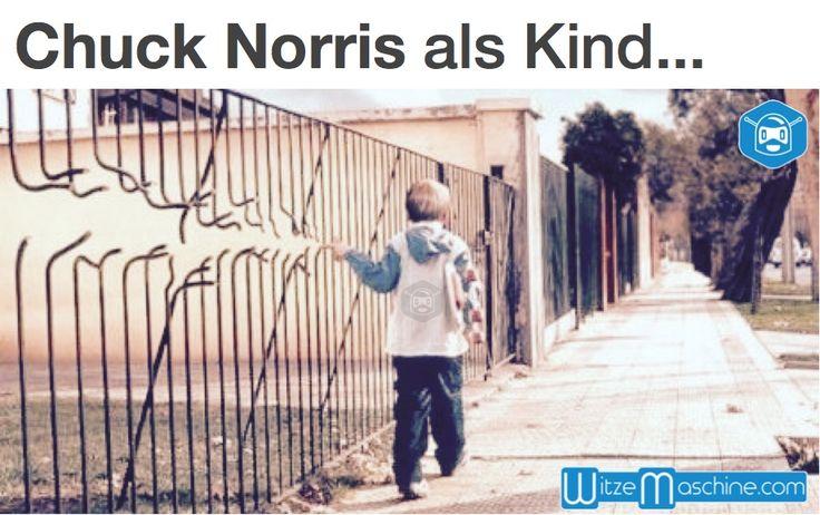 Chuck Norris als Kind - Zaun - Chuck Norris Witze und Fakten