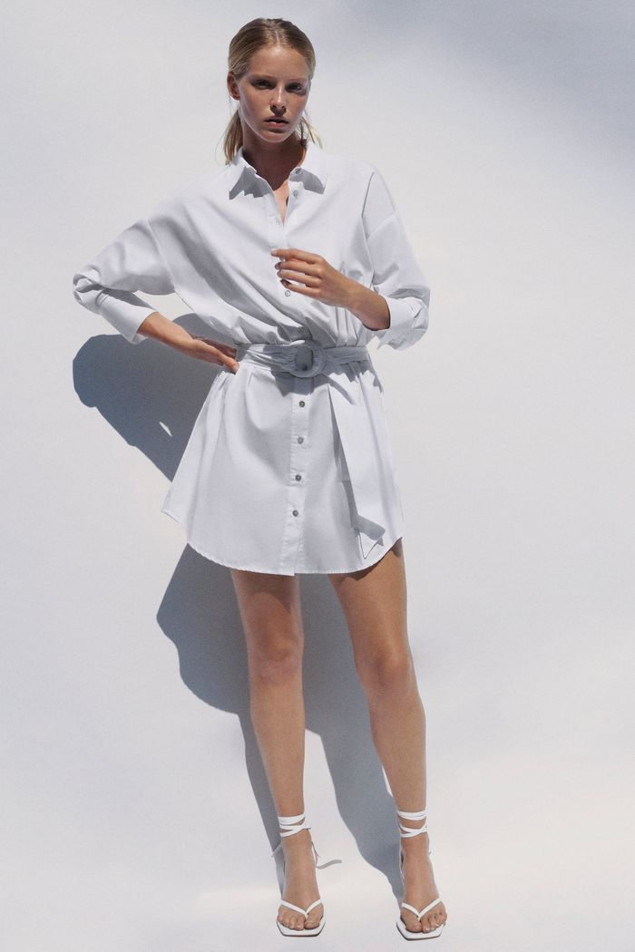 54 New Summer Zara Items Destined to Sell Out   Poplin shirt dress ...