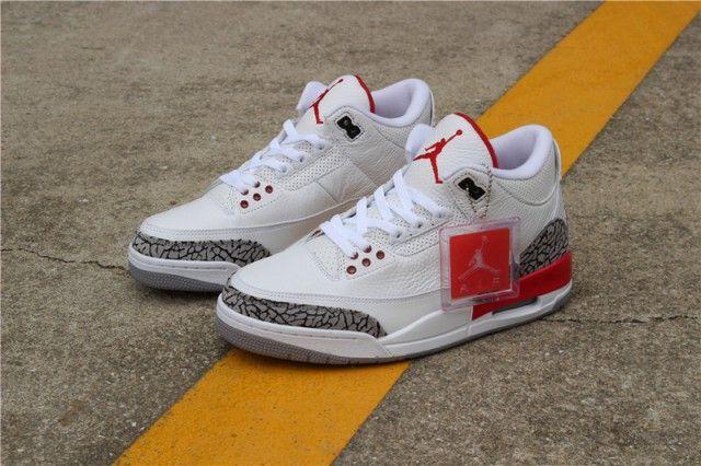 Nike Air Jordan 3 III White/Grey/Red