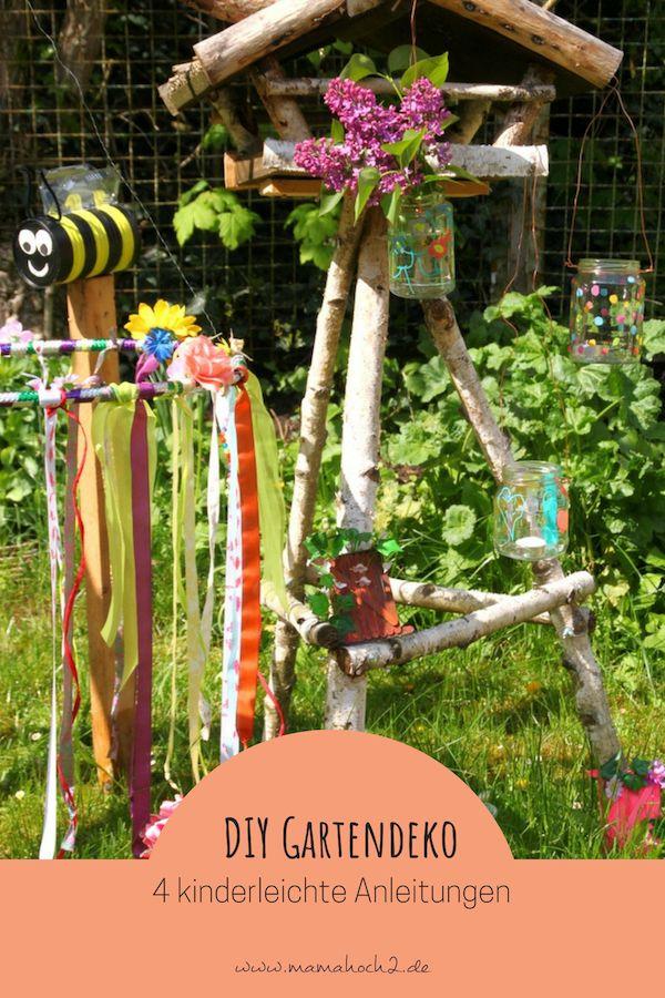 Gartendeko Aus Kinderhand 4 Einfache Anleitungen Mamahoch2 Kinder Basteln Garten Garten Deko Kinder Hande