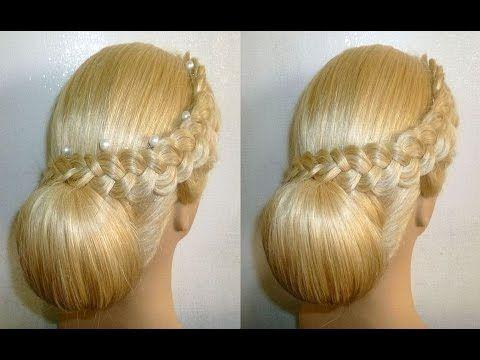 Hochsteck Frisur mit Duttkissen/Dutt.Ausgehfrisur.Abiball Frisur.Donut Hair Bun Hairstyle.Peinados - YouTube