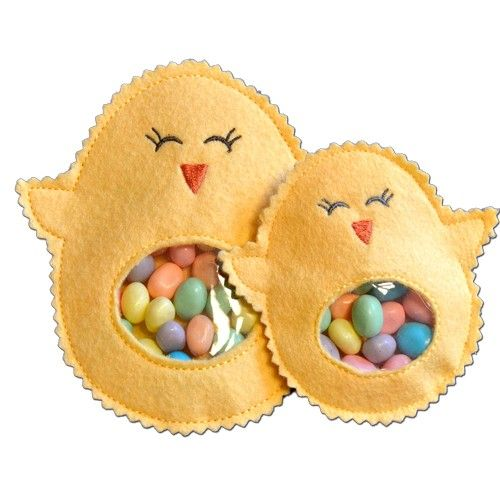 Chick Candy Cuties In the Hoop  - Chick Candy Cuties are fun and easy to make, right in the hoop of your embroidery machine!
