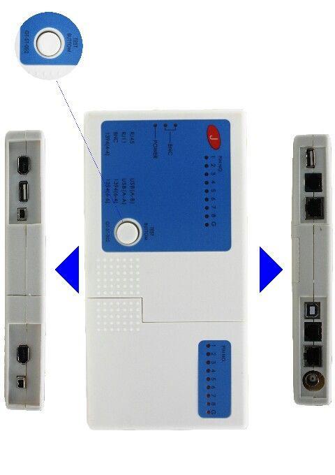 Multifungsi Cable Tester  RJ45, RJ11, BNC, Firewire 1394, USB, LAN, Phone Network Cable Tester Meter LCD indicators  Harga rp95.000 Dapatkan harga special khusus members di : www.tokomipo.com