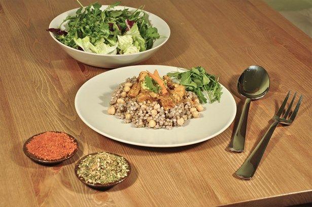 Pohankové rizoto s cizrnou a kuř. masem