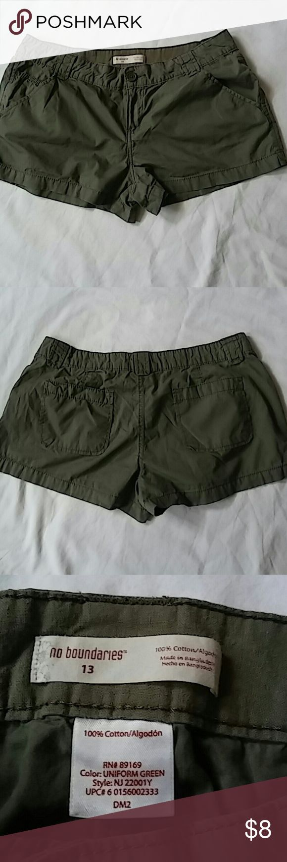Women's mini shorts In great shape..worn just twice. Washed and sanitized....look like new. No Boundaries Shorts Skorts