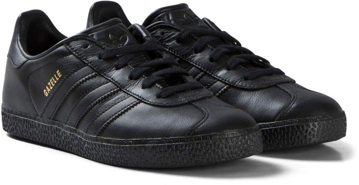 adidas originals All Black Gazelle Trainers | AlexandAlexa | Black ...