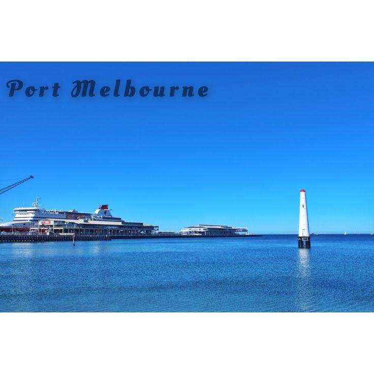 #melbourne #portmelbourne #blue #sky