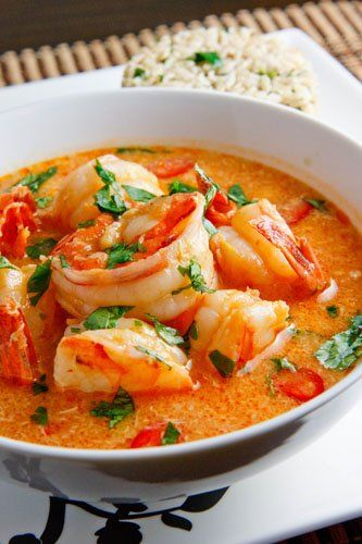 Wow, the prawns look huge and the dish looks amazing!The beautiful colour of the sauce also looks like Singapore Laksa but of course it is a real spicy type. This image is meant to be a source of i…