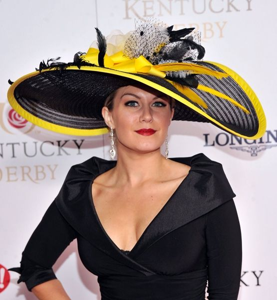 Most memorable hats from the Kentucky Derby  Love it, proportion to her dress and body is perfect/