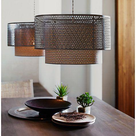 Buy John Lewis Meena Fretwork Steel Pendant Light Online At Johnlewis