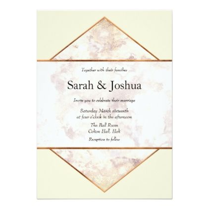 Stylish Marble and Cream Wedding Invitation - gold wedding gifts customize marriage diy unique golden